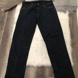 Evisu Heritage Dark Wash Bootcut Leg Denim Jeans